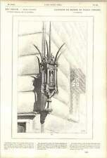 1882 Charming Bronze Lantern Strozzi Palace Corner Florence