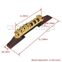 Adjustable Rosewood Roller Saddle Bridge Replacement for Archtop Jazz Guitar