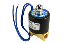 """1/4"""" NPT Electric Brass Solenoid Air Water Valve NC 12V DC Pneumatic"""