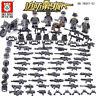 Bausteine Figur Mini Militär Soldaten Waffen Bausteine Spielzeug Toy Gift 6PCS