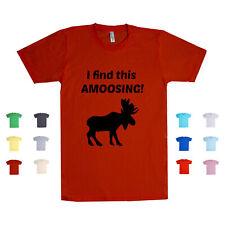 I Find This Amoosing Canada Animals Mammals Moose Smart Puns Unisex T Shirt