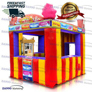10x10ft Inflatable Food Drink Concession Stand Tent Candy Booth With Air Blower