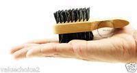"Mini Two Side Brush 100% Pure Boar Soft / Hard Bristles Moustache Beard, Fade 5"""