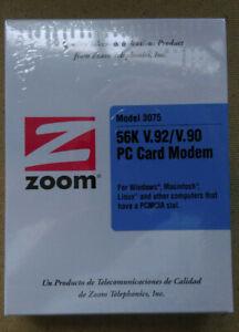 Vintage Zoom 3075 56k V.92/V.90 PC Card Modem. PCMCIA. New original Sealed box!