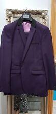 Marc Darcy 3 piece Purple Notch Lapel Suit Size Jacket 42R trousers 36R