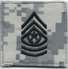 ACU US Army E-9 E9 CSM Command Sergeant Major Rank Patch VELCRO® BRAND Hook Fast