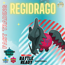 REGIDRAGO + MASTERBALL POKEMON SWORD & SHIELD  CROWN TUNDRA TRADING NOW