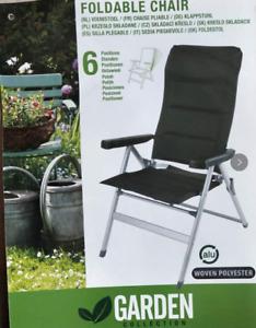 Reclining Folding Camping Chair soft Alloy Frame Outdoor Indoor Gardon Chair