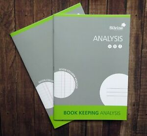 Silvine A4 Accounts Book Keeping Book - Analysis x2 books