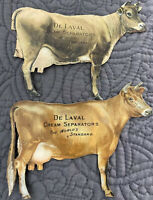 2 Vintage De Laval Cow Cream Separator & Milker Tin Advertising Piece