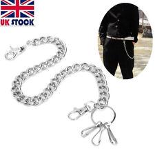 Men Women Hip hop Biker Metal Trucker Key Chain Jean Wallet Chain Silver Simple