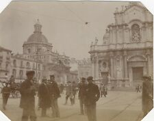 Catane Catania Devant la cathédrale Italie Italia Vintage citrate 1911