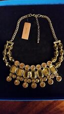 "Marilyn Miglin Jewels Celebration 17"" Goldtone Necklace NWT"