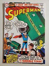 Superman 182 1966 -- 1st new app Toyman. Swan, Klein VERY NICE CONDITION