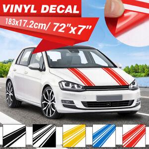 Car Vehicle Racing Body Stripe Pinstripe Hood Decals Vinyl Stickers DIY 4 Colors