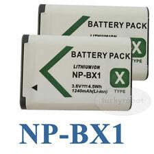 2x NP-BX1 npbx1 Battery for Sony Cyber-Shot 1240mAh DSC-RX100M & DSC-HX50V