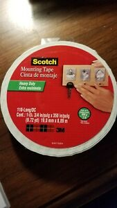 Scotch Permanent Double Sided Foam Mounting Tape Roll - 3/4 Inch x 9.72 Yards