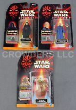 Star Wars EP1 Yoda Darth Sidious & Chancellor Valorum CommTech Hasbro 1998 NIP