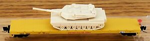 Z SCALE~REL: 3-2010 MICRO-TRAINS MTL UNITED STATES ARMY w/ TANK LOAD  RD# 36022