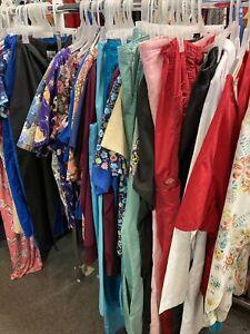 30Pc HUGE LOT  Scrubs  XS - XL tops shirts pants wholesale