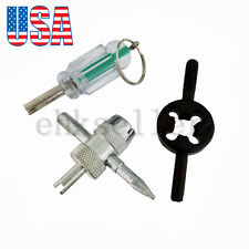 3pcs Car Truck Tube Bike Schrader Valve Key Stem Core Remover Tire Repair Tools