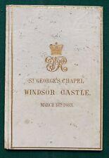 Antique Royal Wedding Order Service Prince Wales King Edward VII Queen Alexandra