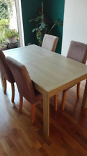 dining table and 6 Dunelm chairs