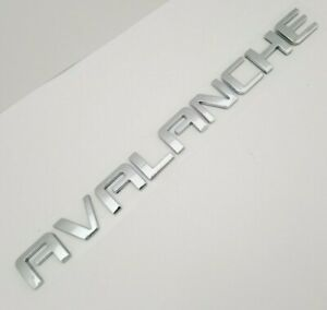 Chrome Avalanche FIT Chevy REAR TRUNK EMBLEM Chevrolet NAMEPLATE BADGE NAME