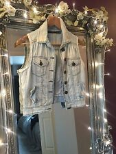 Zara Button Waist Length Denim Coats & Jackets for Women