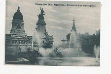B77162 monumento a los dos congres  buenos aires argentina scan front/back image