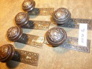 Vintage Antique 12+ Pc Eastlake? Victorian? Deco? Door Hardware Set   12420 G