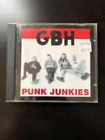 GBH Punk Junkies CD Punk Rock Hardcore Exploited Discharge UK Subs Subhumans