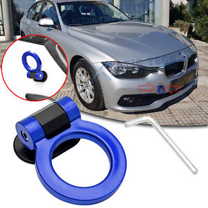 JDM Blue Racing Sport Track Style ABS Tow Hook Ring Decoration For BMW 3 Series