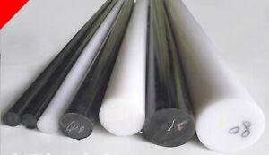 Acetal Rod Black White Engineering Plastic Round Bar Billet Spacer 5-15mm