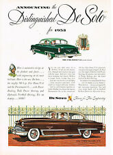 Vintage 1953 Magazine Ad DeSoto Famous For Fine Engineering The Fire Dome V-8