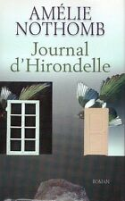 AMELIE NOTHOMB JOURNAL D'HIRONDELLE FRANCE LOISIRS