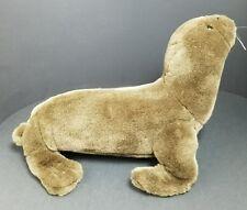 """K&M International Plush Seal Brown  14"""" 1999 White Whiskers Cuddle Sea Lion 3+"""