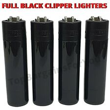 More details for clipper lighters set smooth feel touch black new design refillable flint gas uk