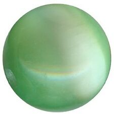 OC4/V=20 perles verre OEIL CHAT extra 4mm VERT CLAIR