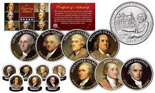 FOUNDING FATHERS Colorized Frederick Douglass 2017 DC Parks Quarters 7-Coin Set