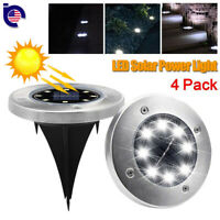4 Pack Waterproof LED Buried Light Solar Power Lamp Outdoor Path Way Garden Yard