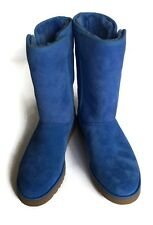 UGG Australia Michelle Boots Womens Size 7.5 Blue Suede