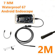 2M 6LED waterproof Endoscope Borescope color Tube camera for Android Smart phone