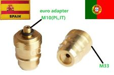 LPG GPL GAS EURO SPAIN PORTUGAL ADAPTER M10 M33X2 filler FILLING BRASS