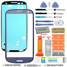 Samsung Galaxy S3 Pantalla de Recambio con Lente de Cristal Frontal Kit de reparación azul + Pegamento UV
