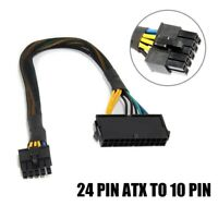 ATX PSU Power Supply Adapter Cable 24pin Female To 10 Pin For Lenovo Motherboard