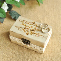 Personalized Rustic Ring Bearer Box Wedding Ring Holder Proposal Ring Box
