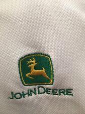 Genuine John Deere White Short Sleeve Polo Shirt! 80% Cotton! Xl