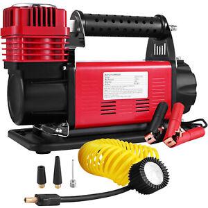 DC12V Druckluft Verdichter Luftkompressor 160 Liter Kessel Gummireifen-Pumpe