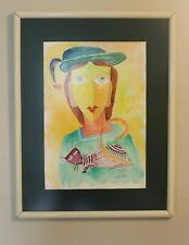 RARE! BROTHER CLETUS BEHLMANN - Framed Original Watercolor Painting - SIGNED